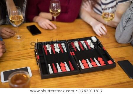 kırmızı · tahta · zarlar · eğlence · başarı · oynamak - stok fotoğraf © wavebreak_media