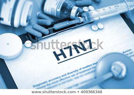 Diagnózis orvosi 3D nyomtatott elmosódott szöveg Stock fotó © tashatuvango