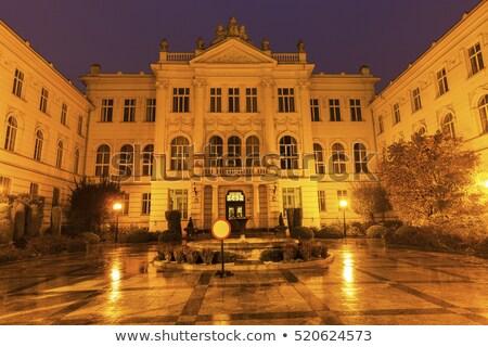 Alten Gerichtsgebäude Gebäude Stadt blau Reise Stock foto © benkrut