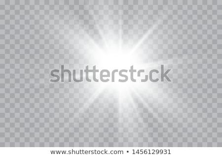 coleção · verão · laranja · nascer · do · sol · desenho · animado · luz · do · sol - foto stock © romvo