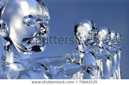 3d glassy Man digital era concept Stock photo © cienpies