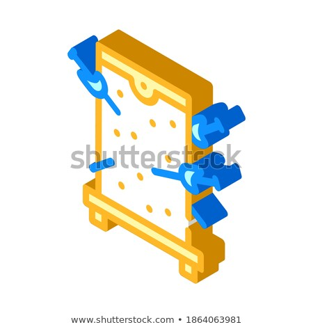 Sword isometric icon, isolated on color background Stock photo © sidmay
