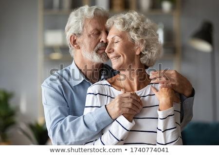 Szeretetteljes férj feleség férfi férfi csók Stock fotó © IS2