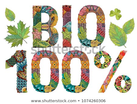 Bio 100 százalék vektor dekoratív tárgy Stock fotó © Natalia_1947