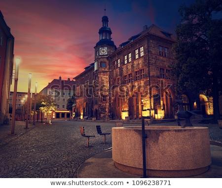 市 · ホール · 中世 · 噴水 · 家 - ストックフォト © lunamarina