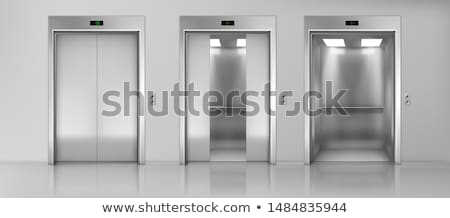 オープン · エレベーター · フロント · 表示 · 現代 · ロビー - ストックフォト © adrenalina