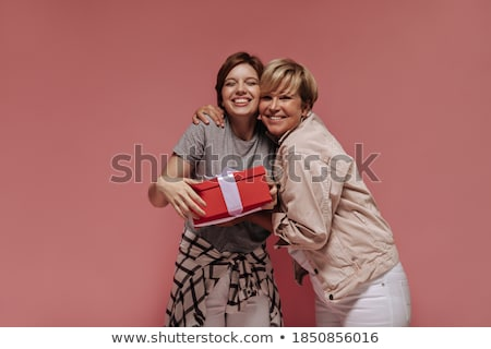 rózsaszín · kabát · középső · nő · szett · különböző - stock fotó © toyotoyo