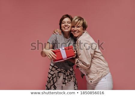 rosa · chaqueta · centro · mujer · establecer - foto stock © toyotoyo
