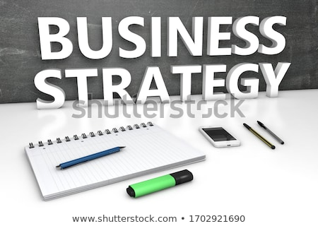business strategy   text on small chalkboard 3d stock photo © tashatuvango