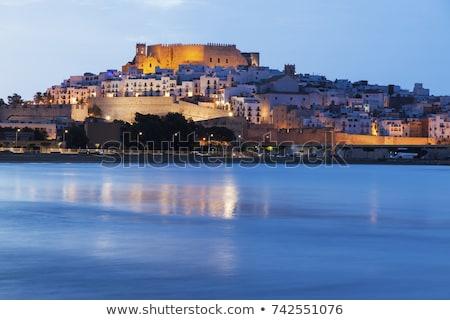 Panoráma hajnal közösség Spanyolország város kék Stock fotó © benkrut
