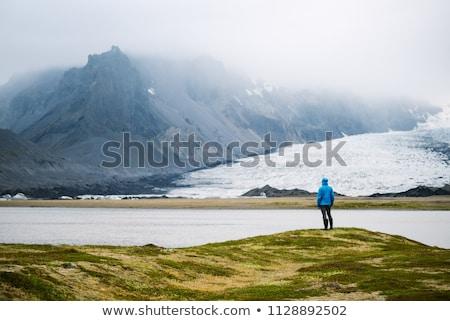 Vatnajokull glacier near Breidarlon lake, Iceland Stock photo © Kotenko