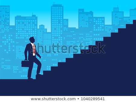 Corporate scala uomini d'affari lavoro salita occupazione Foto d'archivio © RAStudio