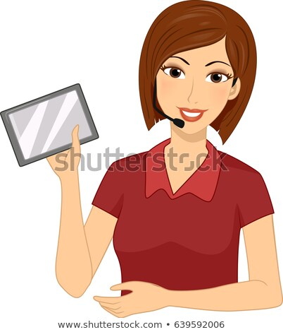 Girl Teacher FM Transmitter Tablet Illustration Stock photo © lenm