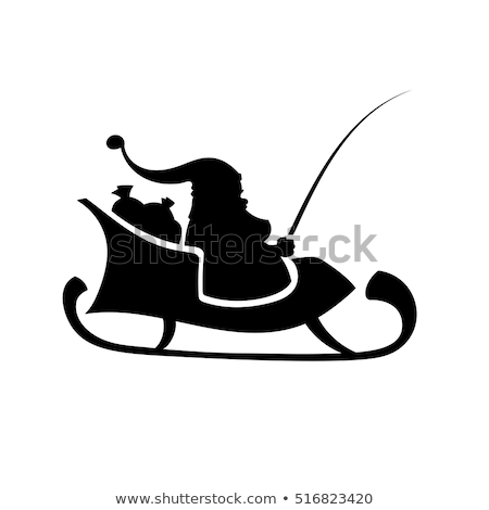 Merry Christmas sleigh silhoutte Stock photo © bluering