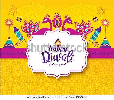 diwali festival greeting background with text space Stock photo © SArts