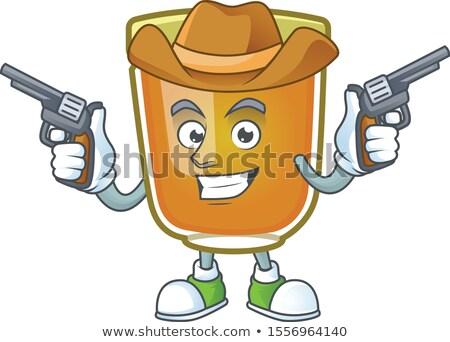 Cartoon glimlachend cowboy bee gelukkig Stockfoto © cthoman