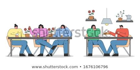 Cartoon folle adolescente illustration adolescente regarder Photo stock © cthoman