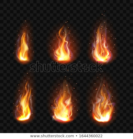 Burning candles - realistic vector isolated clip art set of objects Stock photo © Decorwithme