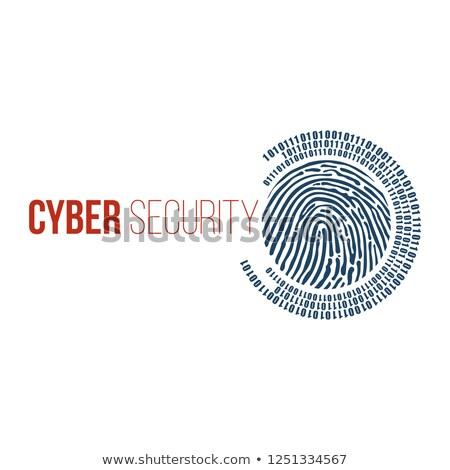デジタル · 指紋 · バイナリ · 1 · ゼロ · 桁 - ストックフォト © kyryloff