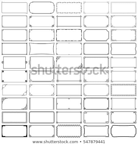 Siyah dikdörtgen dekoratif vektör çerçeve Stok fotoğraf © blaskorizov