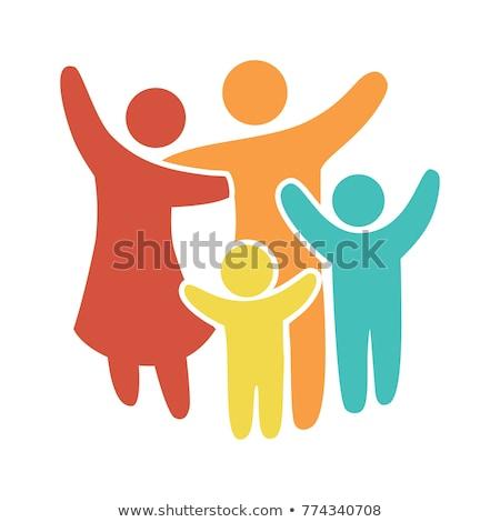protección · personas · silueta · familia · icono · persona - foto stock © blaskorizov