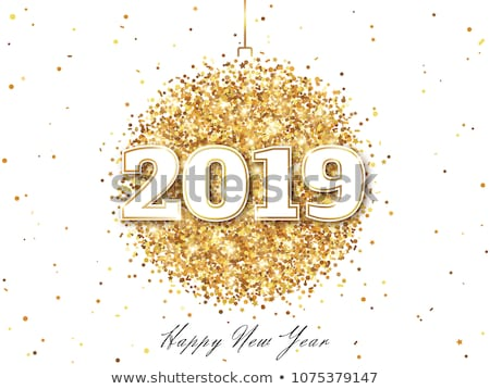 Happy new year or babiole nombre signe carte Photo stock © cienpies