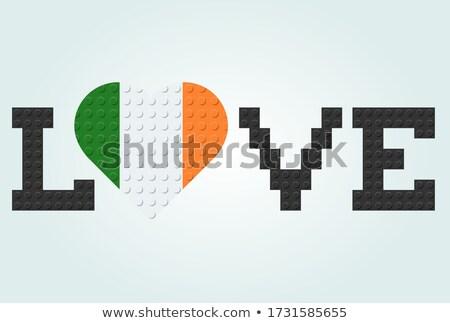 Miłości Irlandia ilustracja podpisania papieru serca Zdjęcia stock © colematt
