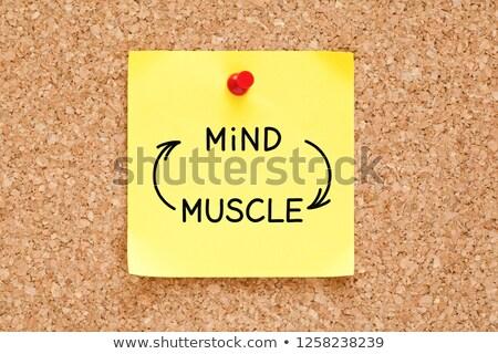 Esprit muscle connexion note collante écrit Photo stock © ivelin
