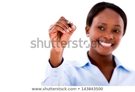 美しい · 小さな · 女性実業家 · ペン · 女性 - ストックフォト © Minervastock