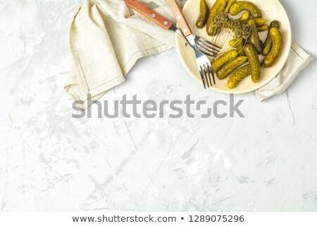pepinos · prato · luz · cinza · concreto · superfície - foto stock © artsvitlyna