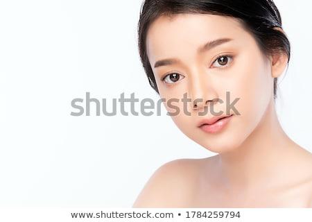 Güzel kadın portre güzel bir kadın gülen Stok fotoğraf © ajn