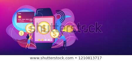 Smartwatch payment concept banner header. Stock photo © RAStudio