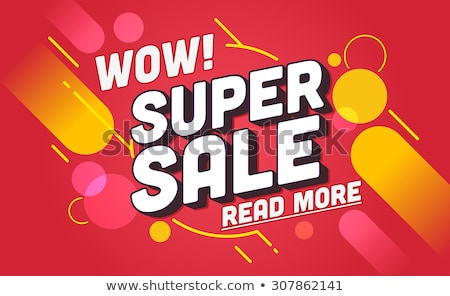 spring sale web posters with promo tags vector stock photo © robuart