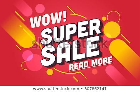 Voorjaar verkoop web posters promo Stockfoto © robuart