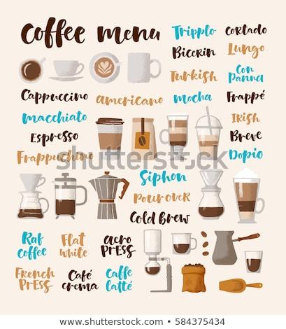 kézzel · írott · vektor · elemek · kávéház · osztályzat · piac - stock fotó © bonnie_cocos