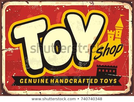 Colore vintage giocattoli shop banner design Foto d'archivio © netkov1