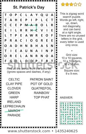 Dzień wakacje puzzle krzyżówka gry odpowiedź Zdjęcia stock © Natali_Brill