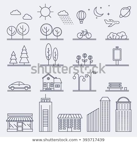 Informações linear estilo praça bolha Foto stock © robuart