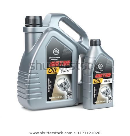plastic canister motor oil on white background. Isolated 3D illu Stock photo © ISerg