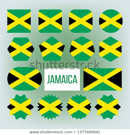 Jamaica Flag Collection Figure Icons Set Vector Photo stock © pikepicture