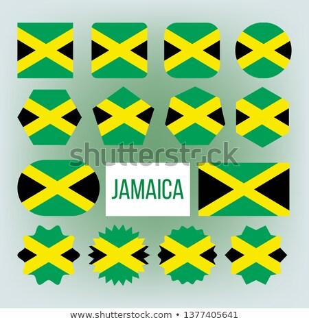 Jamaica vlag collectie cijfer vector Stockfoto © pikepicture