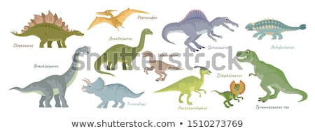 sevimli · karikatür · dinozor · karakter · çocuklar · mutlu - stok fotoğraf © krisdog