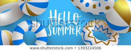 Hello Summer 3d gold pool lifesaver web banner  Stock photo © cienpies
