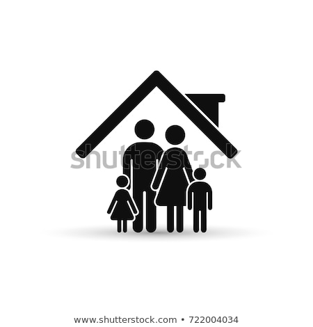 Person Protecting Family Figures With Roof Stock photo © AndreyPopov