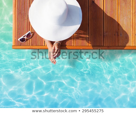 summer holidays background with sun wearing sunglasses stock photo © sarts