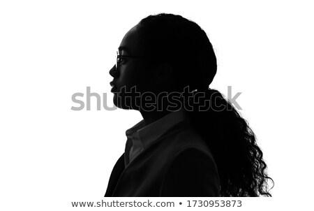 perm hair girl_study Stock photo © toyotoyo