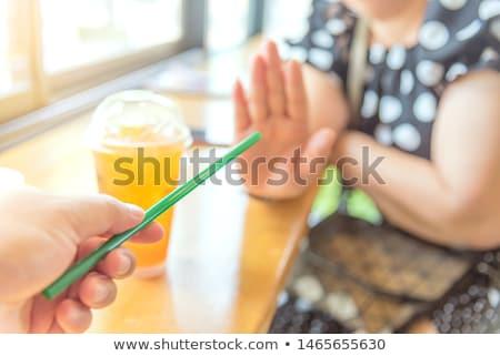 Stoppen Kunststoff verbieten Hand Verschmutzung Stock foto © Lightsource