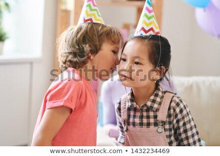 Adorable enfants anniversaire jouer puéril jeu Photo stock © pressmaster