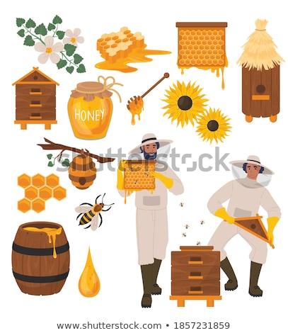 Stockfoto: Business · man · bijen · vector · landbouw