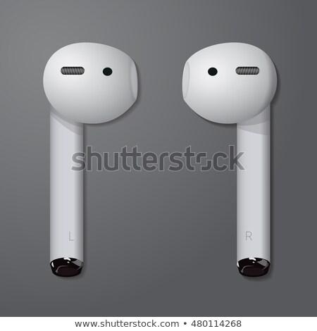 audio · draadloze · hoofdtelefoon · vector · draagbaar - stockfoto © pikepicture